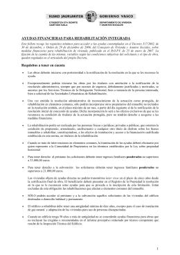1 AYUDAS FINANCIERAS PARA REHABILITACIÓN INTEGRADA