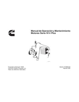 Manual de Operación y Mantenimiento Motores Serie N14 Plus