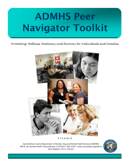 ADMHS Peer Navigator Toolkit