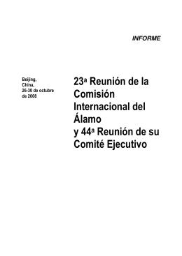 23a Reunión de la Comisión Internacional del Álamo y 44a Reunión