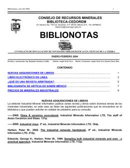 Enero-Febrero - Servicio Geológico Mexicano