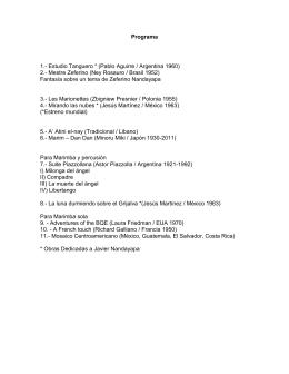 Programa 1.- Estudio Tanguero * (Pablo Aguirre / Argentina 1960) 2