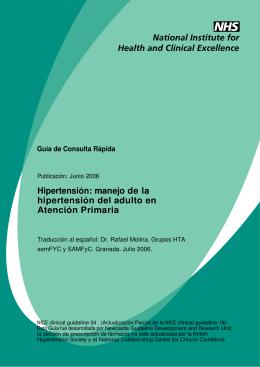 manejo de la hipertensión del adulto en Atención Primaria