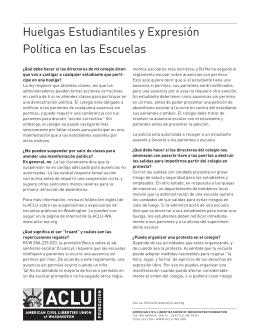 Huelgas Estudiantiles y Expresión Política en las Escuelas