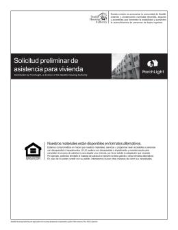 Solicitud preliminar de asistencia para vivienda