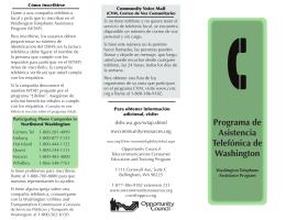 Programa de Asistencia Telefónica de Washington