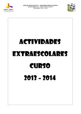 Folleto extraescolares 2013-2014 (CAST)