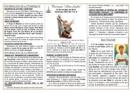 NOTICIAS PARROQUIALES-18 octubre