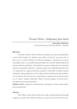 Nicanor Parra: Antipoemas para mirar