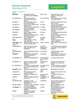 Glossar Spanisch Arbeitsbuch B1