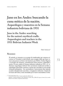 Jano en los Andes: buscando la cuna mítica de la nación.
