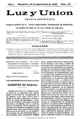 Luz y unión 19000930 - Federación Espírita Española