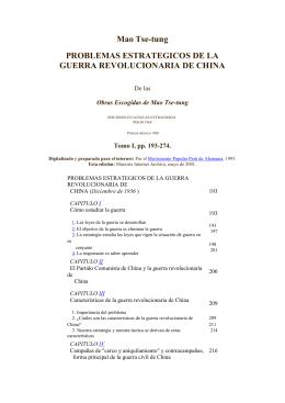 Problemas Estratégicos de la Guerra Revolucionaria de China