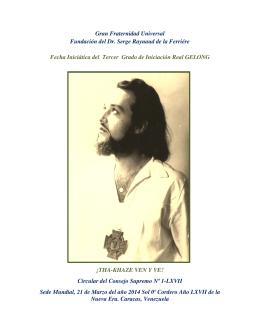 Gran Fraternidad Universal Fundación del Dr. Serge Raynaud de la