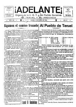 Sigamos el camino trazado Leed El Sociolisto Al Pueblo de Teruel