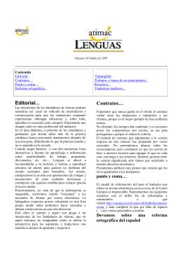 Atimac Lenguas Otoño 1999