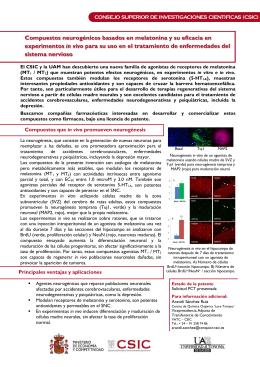 Compuestos neurogénicos basados en melatonina y su