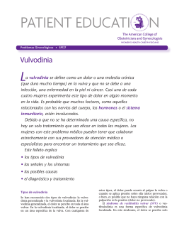 Spanish Patient Education Pamphlet SP127 Vulvodynia
