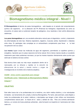 Folleto Biomagnetismo