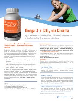 Omega-3 + CoQ10 con Cúrcuma