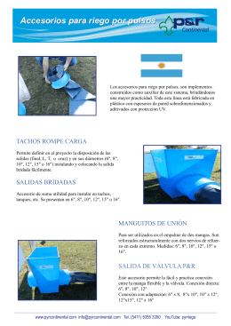 Tachos distribuidores folleto
