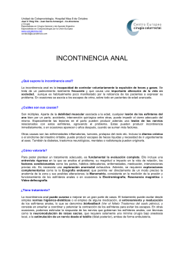 INCONTINENCIA ANAL