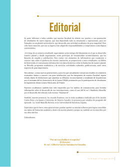 Editorial - FES Aragón