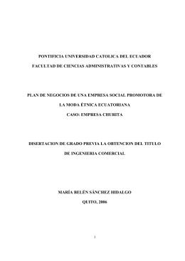 pontificia universidad catolica del ecuador facultad de ciencias