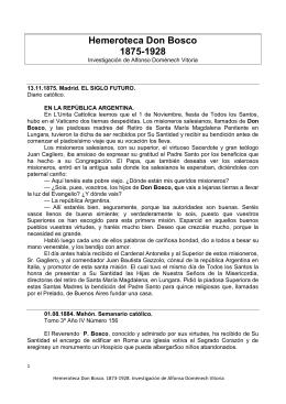 Hemeroteca Don Bosco 1875-1928