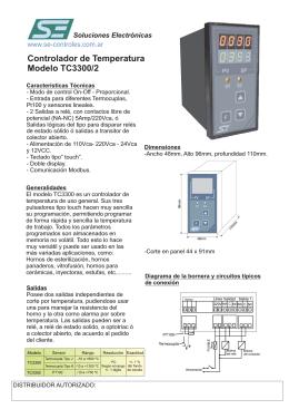 Folleto TC3300.cdr - SE,Soluciones Electrónicas