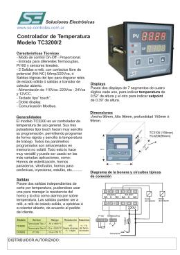Folleto TC3200.cdr - SE,Soluciones Electrónicas