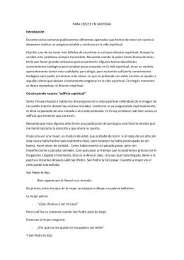 PARA CRECER EN SANTIDAD Introducción