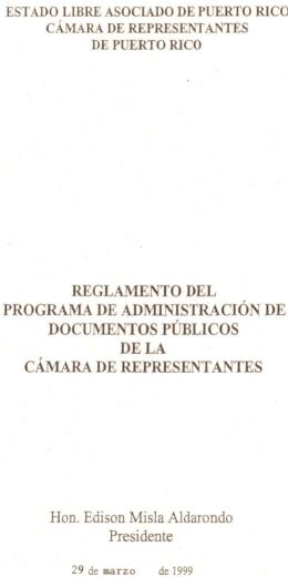 REGLAMENTO·DEL PROGRAMA DE ADMINISTRACION DE