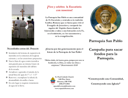 Parroquia San Pablo Campaña para sacar fondos para la Parroquia.