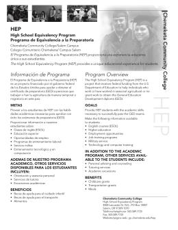 Chemeketa Community College HEP Información de Programa