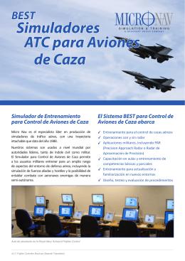 de Caza Simuladores ATC para Aviones