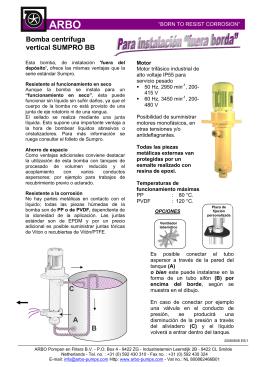 Catálogo Cramix Bombas Centrífugas Verticales