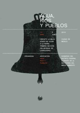 mexico df 2010. folleto agua rios y pueblos
