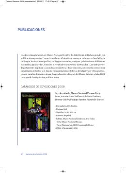 Publicaciones - Museo Nacional Centro de Arte Reina Sofía