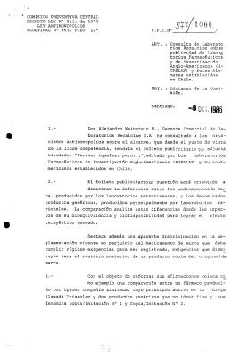 COMISION PREVENTIVA CENTRAL DECRETO LEY No