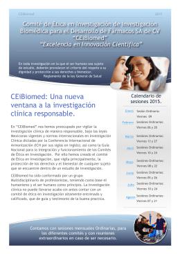 CEiBiomed: Una nueva ventana a la investigación clínica