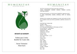 INFANTS & NURSERY Folleto para 3 años Booklet