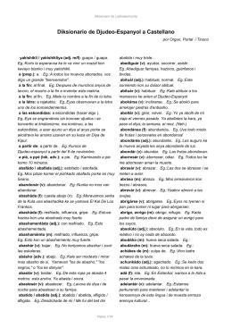 Diksionario de Djudeo-Espanyol  Castellanol