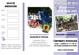 Folleto campamentos ESO 2013 - Hermanos del Sagrado Corazón