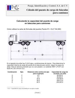 Cálculo del puente de carga de básculas para camiones