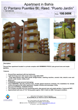 Apartment in Bahía C/ Pantano Puentes St., Resd