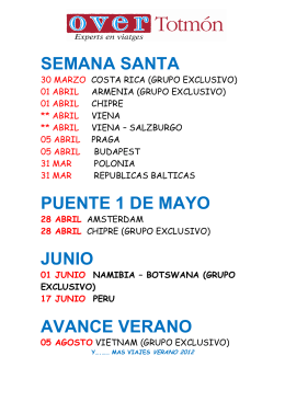 semana santa puente 1 de mayo junio avance verano
