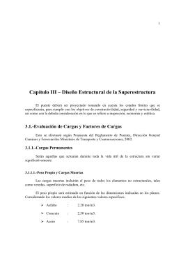 Capítulo III – Diseño Estructural de la