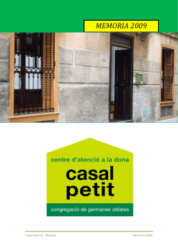 memoria 2009 PDF - Casal Petit – Hermanas Oblatas – Palma
