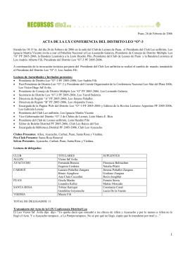 Viedma, Agosto 2005 - Clubes Leo Del Sur